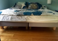 King bed frame plus mattress sheets and duvet cover Toronto, M8Z