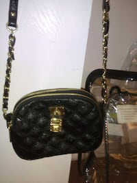 black leather quilted crossbody bag Edmonton, T5A 4N4