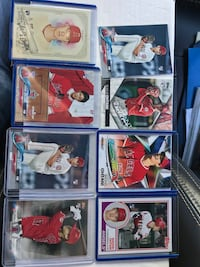 Ohtani rookie card lot. 8 cards Bartonville