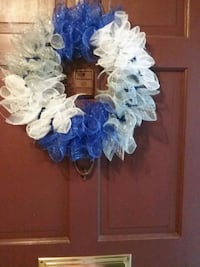 white,blue and gray mesh wreath Newport News, 23608