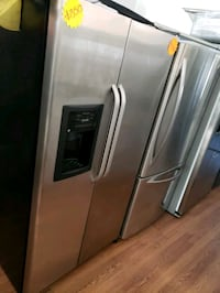 stainless steel side-by-side refrigerator with dispenser Long Beach, 90815