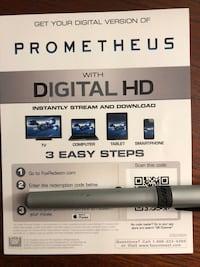 Prometheus digital copy iTunes Lachine, H8S 3B2