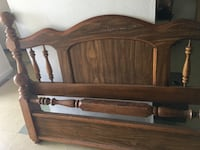 brown wooden headboard and footboard Fort Myers, 33901