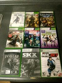 six Xbox 360 game cases Tempe, 85285