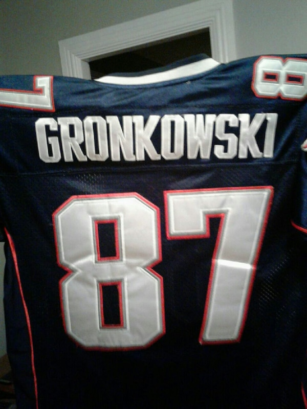 best website facee 787f4 Used blue, white, and red Gronkowski #87 jersey for sale in ...