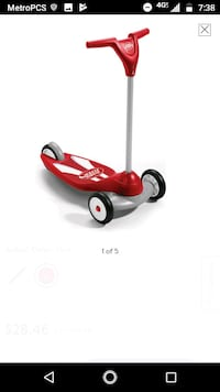 red and black Radio Flyer trike Town 'n' Country, 33615