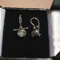 Moonstone 925 silver earrings Edmonton, T5C