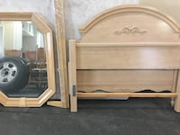 Full size bed plus matching mirror