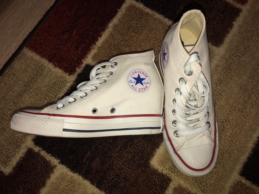 Used Converse All Star chuck taylor brown leather winter