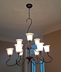 Framburg Stone-Crystal Cottage Chandelier WASHINGTON