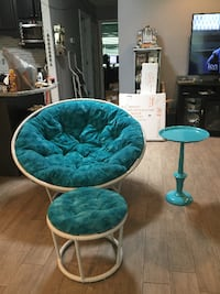 Papason Chaor foot stol and side table Sun City Center