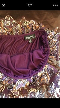 purple and brown Rue21 floral sleeveless shirt screenshot