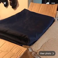 Navy blue linens, chair ties, and oval table covers Stafford, 22556