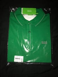 green and white polo shirt Doral, 33178