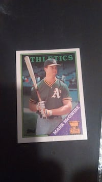 Mark McGwire rookie card.n more White Pigeon, 49099