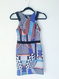 Topshop Patterned Printed Party Dress New Years Holiday Vancouver, V5K 3A5