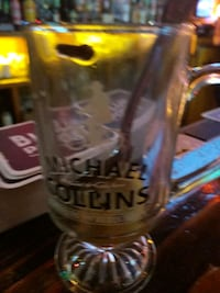 clear Michael Collins footed glass