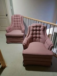 Antique his and hers chairs