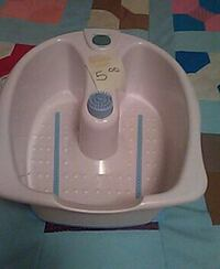 white and teal foot spa massager
