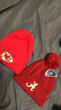 two red beanies