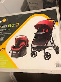 Baby's black and pink travel system box Richmond Hill, L4E 4K6