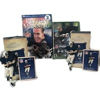 Peyton Manning collection ~ 2 Hallmark ornaments + XBox NFL Fever 2002 game + book Independence
