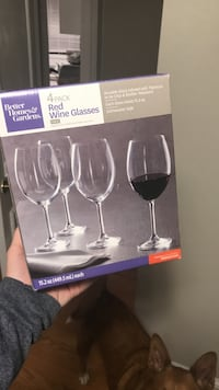 Better Homes and Gardens Red Wine Glasses- NEW