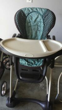 baby's black and gray Graco high chair Edmonton, T6W 2C6