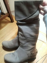 NWOB Geox Size 39 Brown Leather Knee High Boots Vancouver