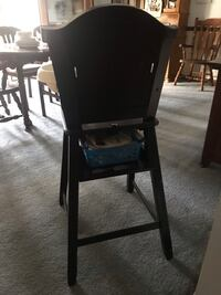 black wooden framed black padded chair Hagerstown, 21740