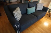 Navy blue 3 peple seating sofa null
