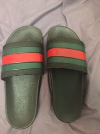 Pair of black-and-green gucci slides Toronto, M9V 3S5