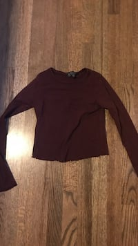 Burgundy Top shop shirt for sale