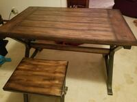 brown wooden table with 4 stools Swartz Creek