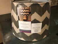 Pair of chevron lampshades - NEW (11 inches wide) - set of two. Franklin, 37064