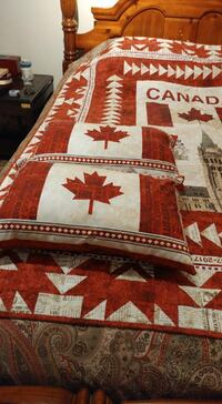 FIRM PRICE*NEW GIFTABLE*Canada's 150th Quilt & 2 Pillows*IF AD'S UP, IT'S STILL AVAILABLE Hamilton