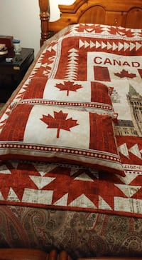 FIRM PRICE*NEW GIFTABLE*Canada's 150th Quilt & 2 Pillows*IF AD'S UP, IT'S STILL AVAILABLE