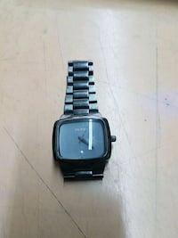 square black analog watch with link bracelet Edmonton, T5P 3Y3