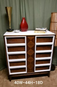 white and brown wooden dresser 51 km
