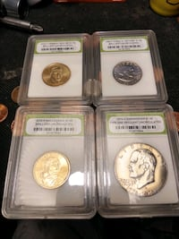 (4)brilliant uncircalated collectable coins