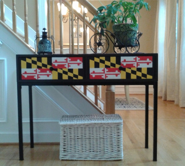 Used Md Flag Sofa Table 2 Drawers For Sale In Belair Letgo