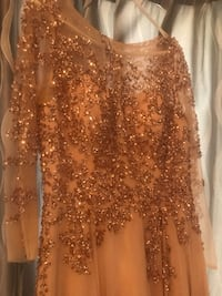 Women's brown glittered dress 706 km