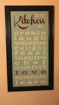 In our kitchen framed quote