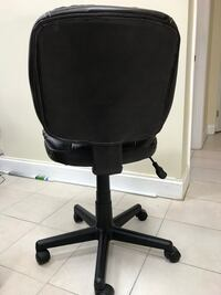 black leather padded rolling chair Greenbelt, 20770