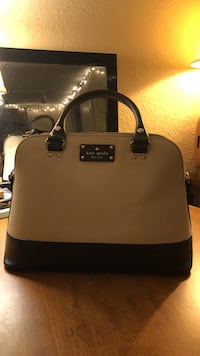 Kate Spade White and black leather tote bag