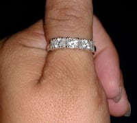 silver-colored diamond ring Kyle, 78640