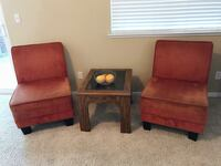 Two beautiful orange color sofa Brentwood, 94513