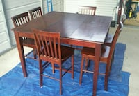 Cherry stain, solid wood dining table and 6 chairs Nashville, 37211
