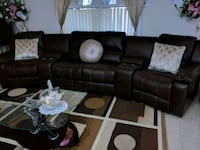 Leather living room sectional/ sofa reclining set Orlando, 32833