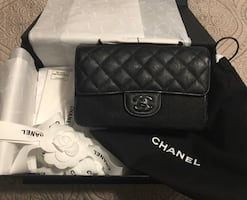 Chanel rectangle quilted caviar small bag